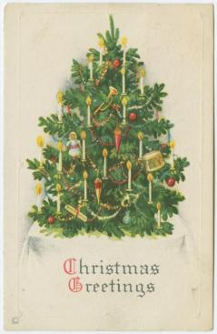Christmas tree old time